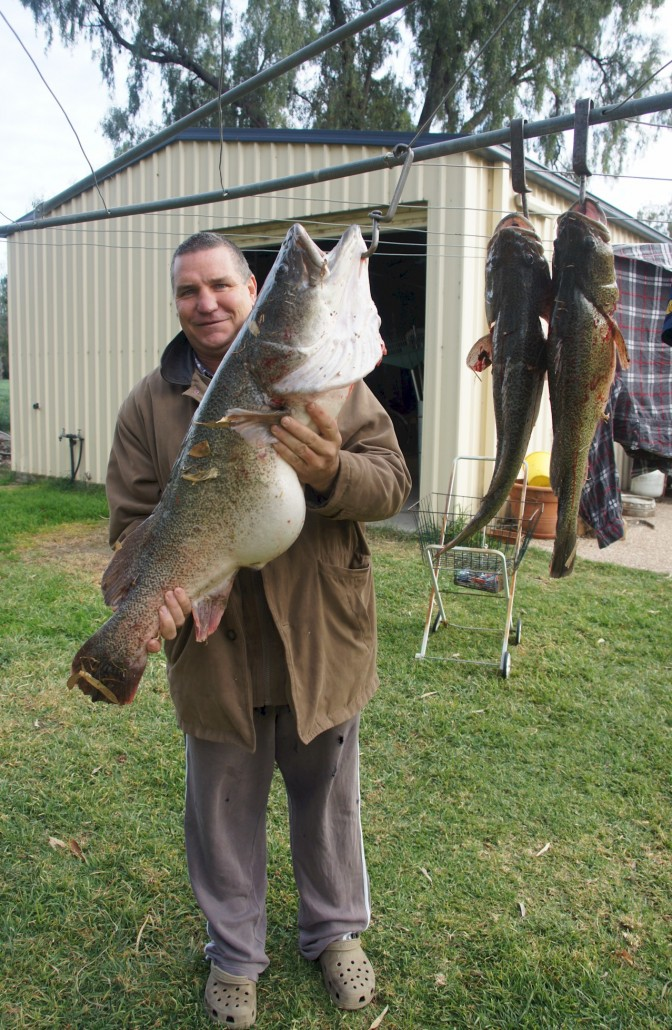 Martyn with his Murray Cod
